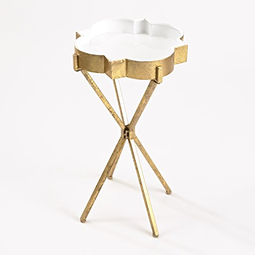 InnerSpace Luxury Products Quatrefoil Tray Side Table