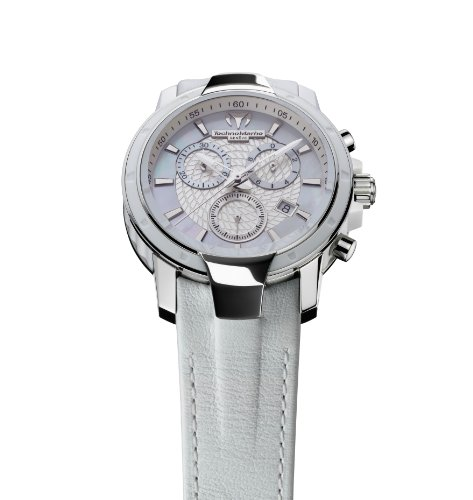 TechnoMarine Women's 609009 UF6 Chronograph White Leather Watch