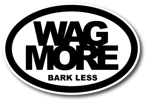 Magnet Me Up Wag More Bark Less Oval Car Magnet Paw Print Auto Truck Decal Magnet -
