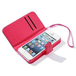 GHK - Solid Color Crystal Surface Full Body Case for iPhone 5/5S(Assorted Color) , Red