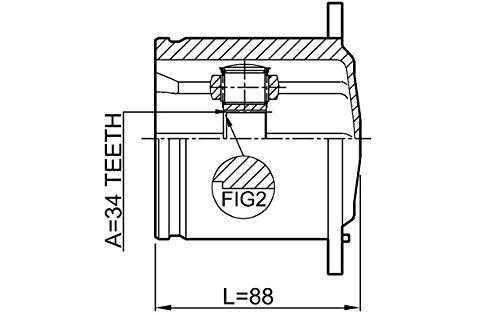 Febest Inner CV Joint Left 34X104 For VW 4H0498103A