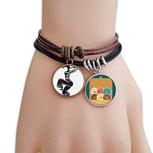 cold master DIY lab Flute Celebrate Silhouette Mexico Dance Mexican Bracelet Rope Doughnut Wristband ()