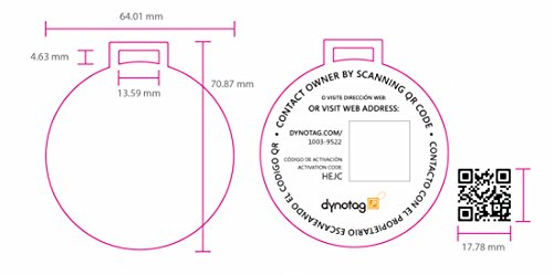 Dynotag Web Enabled Smart Deluxe Steel Luggage ID Tag & Braided Steel Loop, with DynoIQ & Lifetime Recovery Service (Brown) by Dynotag (Image #5)