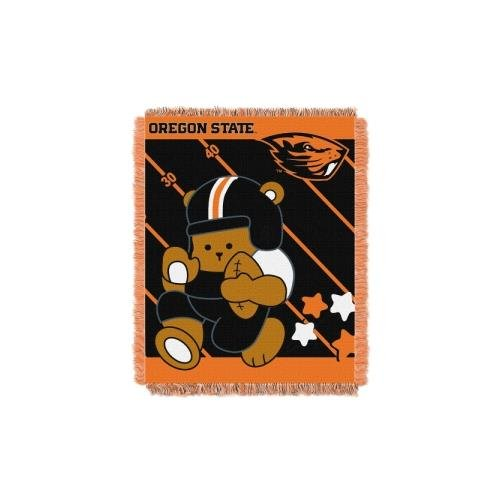 Oregon State Beavers Woven Jacquard - The Northwest Company Officially Licensed NCAA Oregon State Beavers Fullback Woven Jacquard Baby Throw Blanket, 36