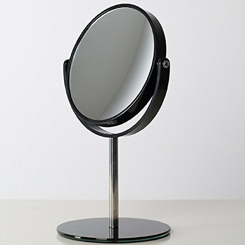 Meraki Soul Professional Vanity Mirror 6 Inch - X10 Magnifying Double Sided 360º Cosmetic Mirror- Black Color - Breathtaking and Elegant Design - Gifts Ideas For Her, Makeup Lovers, Birthday, Mom