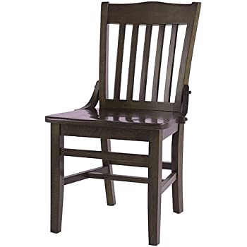 Oak Street CW 554 WA School House Solid Wood Dining Chair with Black Wood  Seat  35 875  Height x 16 25  Width x 19 25  Depth  WalnutAmazon com  Flash Furniture HERCULES Series School House Back  . Schoolhouse Dining Chairs. Home Design Ideas