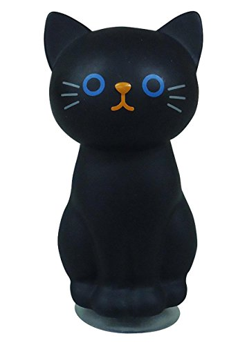 Cat Toothbrush Holder - Cat Toothbrush stand holder Black ME185 by Meiho