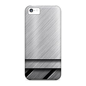 WuW3340JyhG Snap On Cases Covers Skin For Iphone 5c(metallic Texture)