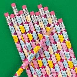 Conversation Heart Pencils (12 Conversation Heart Pencils)