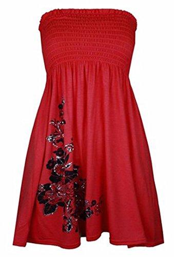 Donna online asfashion shirt Floreale T Red wdTzqIA