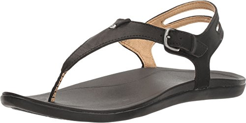 OluKai Women's 'Eheu Black/Black Sandal