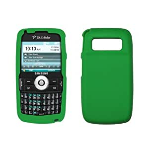 Premium Green Silicone Gel Skin Cover Case for Samsung Exec i225 [Accessory Export Brand Packaging]