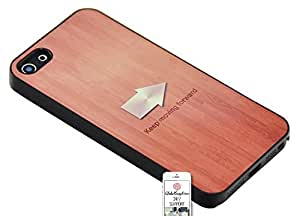 3 YEARS WARRANTY HIGH QUALITY Case for iPhone 5 & 5S - Brown Black Beige Keep Forward Wood Style printing on alloy - case in thermoplastic Resistant Cool HD Matte Finishes by ruishername