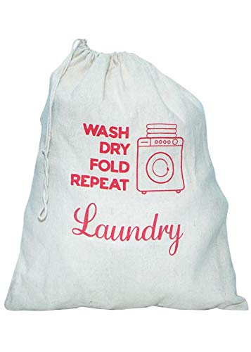 Laundry Bag Cotton 20L Laundry Bag L:16*H:20  Inches  Pack of 3