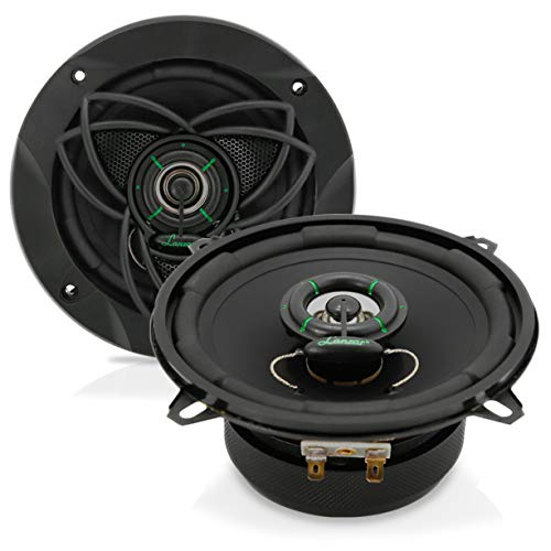 "Blue Adapter Eagle Cable - Upgraded VX 5.25"" Pair 2-Way Speaker - Powerful 120 Watts Peak 4 Ohms 30 Oz Magnet Structure 55 - 20KHz Frequency Response w/ 1"" High Voice Coil and Poly-Mica Coated Woofer Cone - Lanzar VX520"