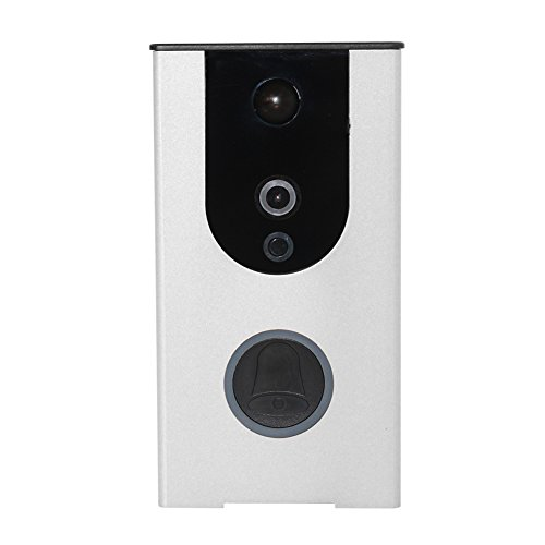 AvatarControls WiFi Video Doorbells,720P HD Wifi Wireless Intercom Door Chimes with Home Security IP Camera Battery Powered Supports 2 Way Audio 32G Cloud Storage (silver) by AvatarControls