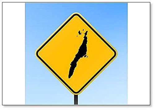 Cebu Map on Road Sign Illustration Fridge Magnet