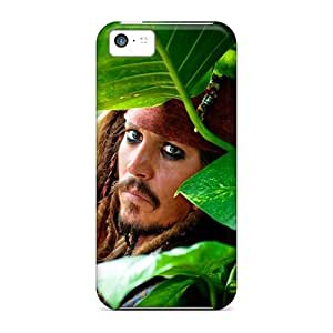 Durable Hard Cell-phone Cases For Iphone 5c With Allow Personal Design Lifelike Jonny Deep Jack Sparrow Movies Skin JasonPelletier hjbrhga1544