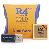 2021 Update Wood Version R4ISDHC SDHC Dual Core R4 TF SD Card Adapter for Nintendo 3DS NDS New 3DSLL (Gloden)