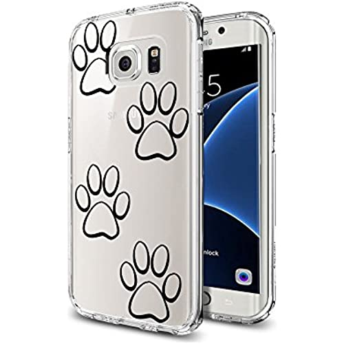 Dog Foot Prints Latest Clear Soft TPU Samsung Galaxy S7 Edge Case Dog Paw Prints Pattern Design Sales