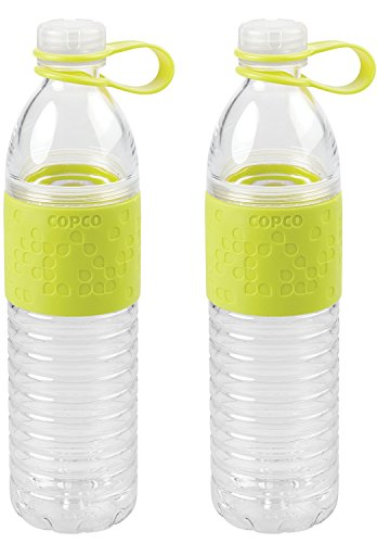 Copco Hydra Resuable Water Bottle, 20-Ounce, Green (2 Pack)