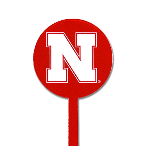 Authentic Street Signs Spring Steel Garden Stakes (Nebraska Huskers-Red)