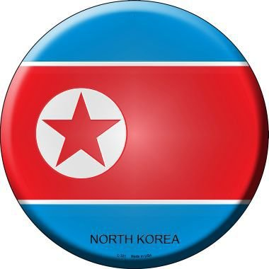Pride Plates North Korea Country Novelty Metal Circular Sign C-321