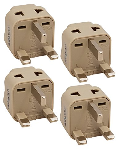 REGVOLT 2 in 1 Plug Adapter (Type G - UK/Hong Kong, 4 - Pack)