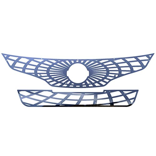 Ferreus Industries Polished Stainless Spider Web Grille Grill Insert Trim fits: 2010-2012 Nissan Altima 4 Door Sedan TRK-155-07
