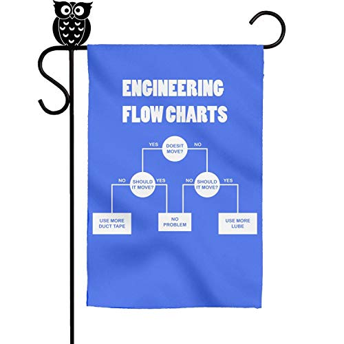 w Charts Garden Flag Yard Home Flag 18 x 12.5 Inch ()
