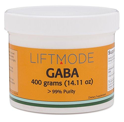 LiftMode Gaba Powder - 400 Grams (2000 Servings at 200 mg) | #Top Nootropic Supplement | For Stress, Better Sleep, To Be Calm - Gamma Aminobutyric Acid |Vegetarian, Vegan, Non-GMO (Gamma Aminobutyric Sleep Acid)