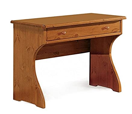 Scrivania con cassetto in legno di pino-Grezzo (Non verniciato ...