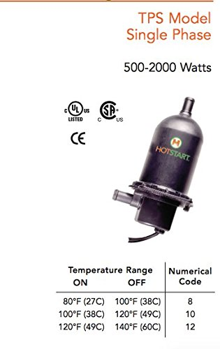 Amazon.com : HOTSTART ENGINE HEATER TPS202GT10-000 COOLANT PRE-HEATER - Original - 1 YEAR WARRANTY : Garden & Outdoor
