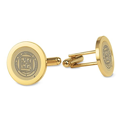NCAA Minnesota Golden Gophers Adult Men Cufflinks, One Size, Gold Minnesota Golden Gophers Cufflinks