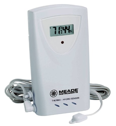 Meade Instruments TS33F-M Temperature and Humidity Sensor with Probe, White by Meade Instruments