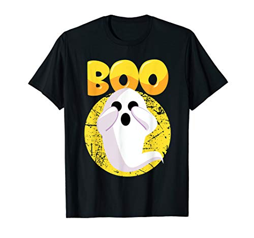 Boo Halloween Ghost Trick or Treat   T-Shirt -