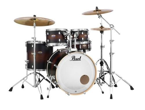 Pearl 5-Piece Decade Maple Shell Pack in Satin Brown Burst (Satin Sst)