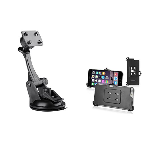iPhone 7/6S/6 Plus Car Mount, Insten Car Windshield Cell Phone Holder Suction Cup Mount W/ Plate for Apple iPhone 7/6S/6 Plus (5.5 inch)