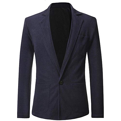 Clearance Forthery Trench Coat Mens Lightweight Button Jacket Overcoat with Pockets(Navy, US Size M = Tag L) ()