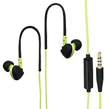 Hama Run Intraaural Dentro de oído Negro, Verde - Auriculares (Intraaural, Dentro de oído, Alámbrico, 20-20000 Hz, 0,6 m, Negro, Verde)