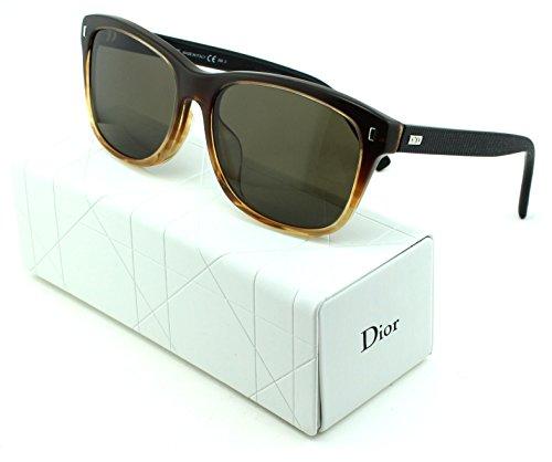 Dior Black Tie 167/F/S Square Unisex Sunglasses (Honey Brown Frame, Brown Gradient Lens - Dior Black Tie