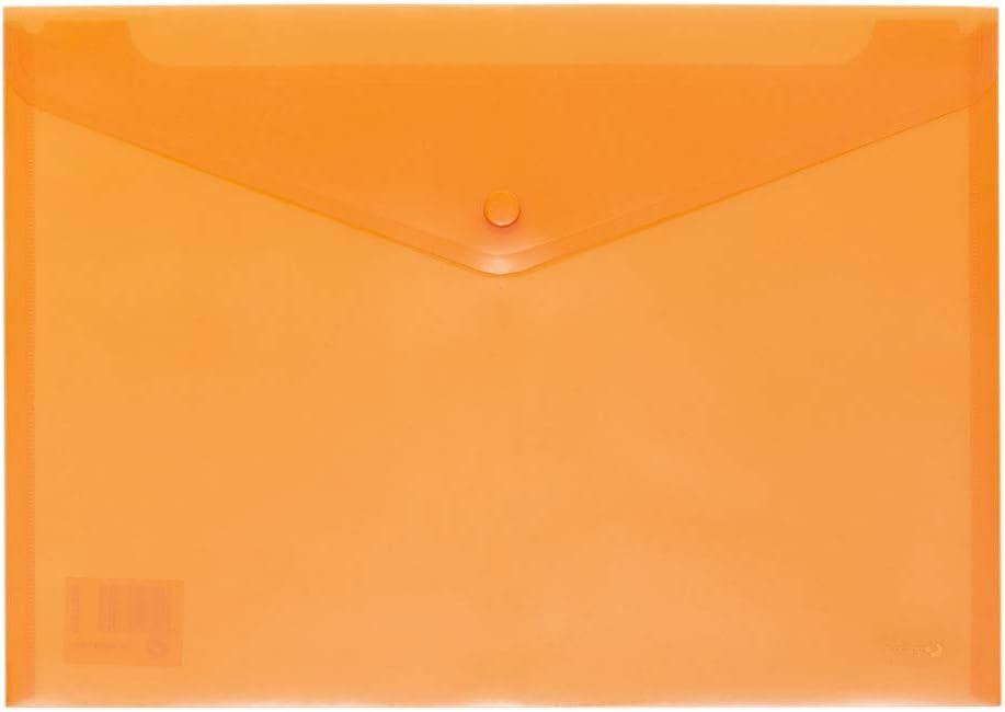 Grafoplás 04871252-Sobre de plástico tamaño folio color naranja