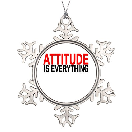 riveral Personalised Christmas Tree Decoration Attitude is everything.png Wedding Snowflake -