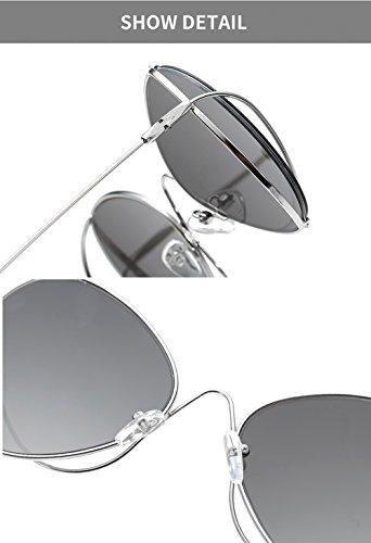 New vintage diseño Marco Pink Black Gafas metal de sol de Fashion para las de Hueco señoras retro para Gafas mujer Sun Plata ovales Gafas Eyewear BvpwzqxqP