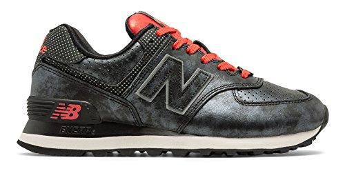 発信パトロン遠い(ニューバランス) New Balance 靴?シューズ レディースライフスタイル 574 Disney Black with Red ブラック レッド US 6 (23cm)