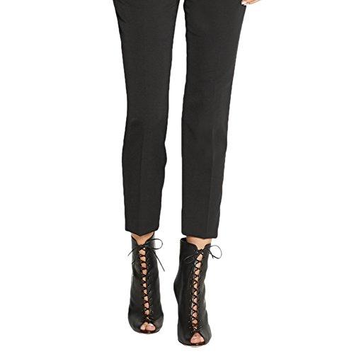 De Club Mariage 36 Mode Sandales De Soirée Sexy Taille Plateforme TLJ Femme Haut 3666 Fête KJJDE Arrière Grande Glissière Transgenre Black Talon q7W1HS