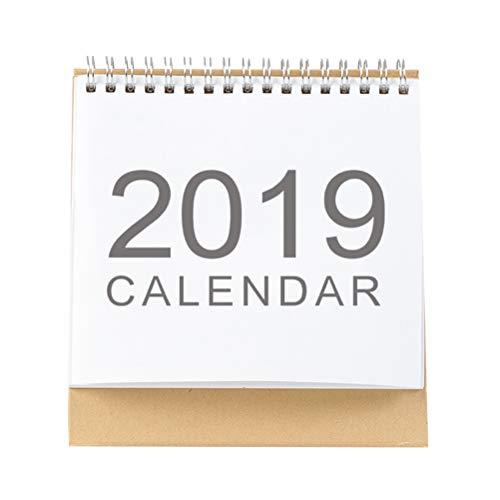 STOBOK 2019 Calendar Monthly Planner Desk Calendar Pad Year Book for Office Home (2018-2019,S)