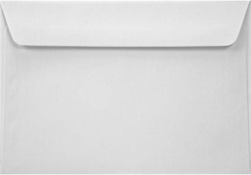 gerade Klappe 162x229/mm ohne Fenster Acquerello Bianco mit Linienstruktur Steuererkl/ärungen 120g 25 St/ück Naturwei/ß DIN C5 Briefumschl/äge Brosch/üren ideal f/ür Amtsbriefe Prospekte