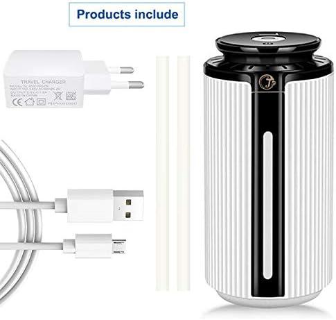 Humidificador De Aire Difusor Ultrasónico Aroma Aceite Esencial Color Claro Purificador De Niebla Fría 900 Ml Blanco Negro: Amazon.es: Hogar