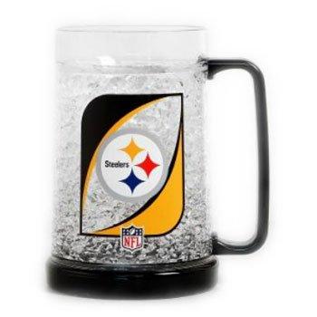 Duckhouse NFL Pittsburgh Steelers Crystal Freezer (Pittsburgh Steelers 16 Oz Crystal)